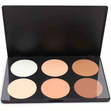 New! 2014 Hot Sale 6 Colors Concealer Makeup Cosmetic Palette For Face Care Blusher Contour Powder Palette Free Shipping
