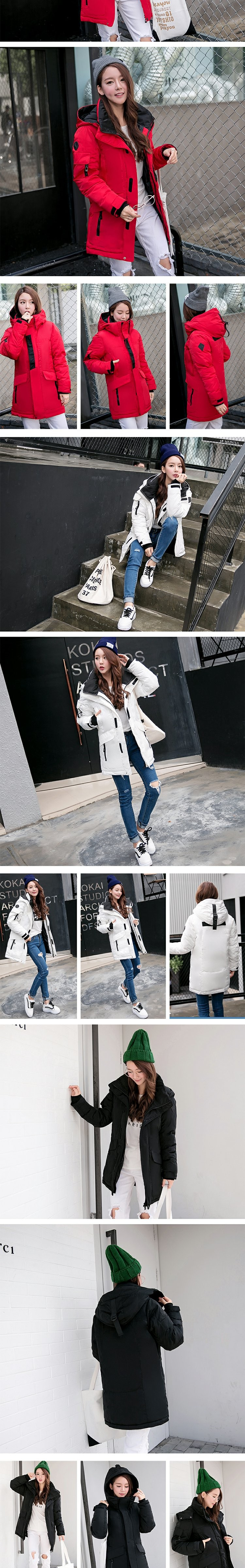 Autumn Winter Women Jacket Women Coats Female Outerwear Plus Size Casual Long Down Cotton Wadded Lady Woman Fashion Warm HM070