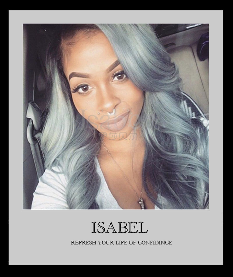 #1b/gray hair extensions boby wave 3pc/lot brazilian grey hair weave ombre gray hair free shipping
