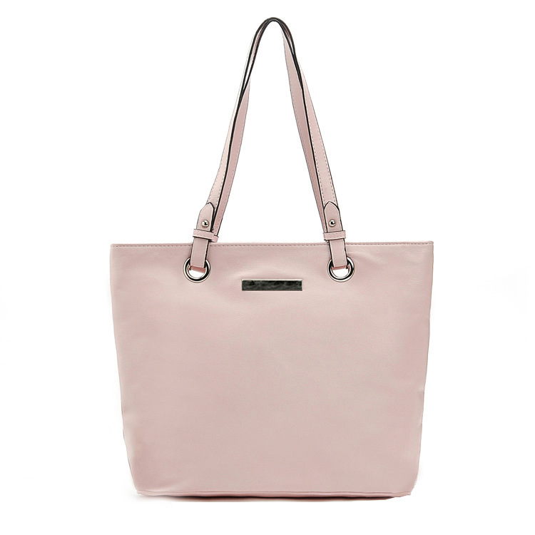 Pink Women Handbags Brief Shoulder Bags Lady Solid Messenger Bag Fashion Bag Zipper Female Large Bags
