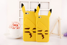 2016 New Anime Cartoon 3D Pocket Monsters Pokemons Cute Silicone Back Cover Case Iphone 4 4s 5 5s se 6s 6plus 7 7plus Coque - Beauty( Shenzhen store Co., Ltd )