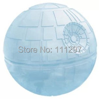 Wholesale 30pcs/lot Death star wars Silicone Ice Tray Cube Mold Maker Ice ball Mould bar party freezing