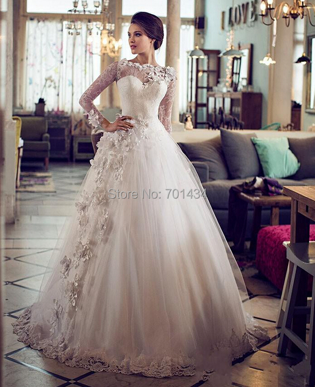 Buy beautiful hand made flowers lace ball for Wedding dress made of flowers