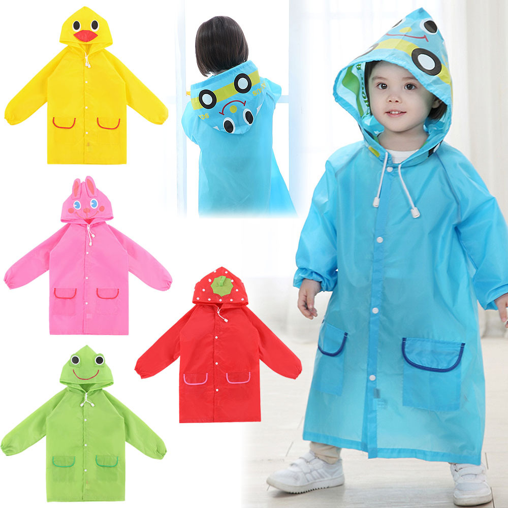 Green, Your Kids Can Wear When Life,This Raincoat Easy to Deal Walsilk 2Pack Emergency Rain Ponchos for Kids,Waterproof Child Raincoats with Hood and Sleeves,Portable & Lightweight.