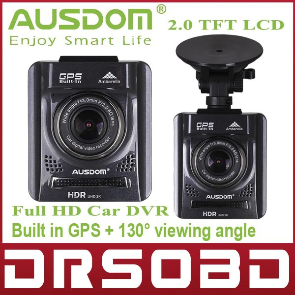 Full HD Car DVR Camera 2.0'' LCD AUSDOM A261 digital video recorder Bulit in GPS+HDMI+130 degree viewing angle+Night Vision(China (Mainland))