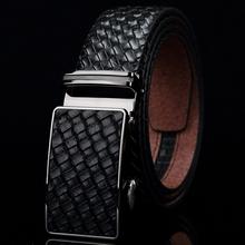 New Arrival Top Grade Fashion Cowskin Jaguar Brand Buckle Man Belt, Genuine Leather Automatic Buckle Brand Men Belt