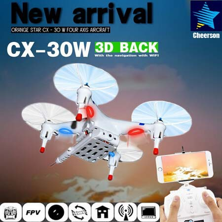 Free Shipping  2MP CX30W 4CH 2.4GHz FPV RC Quadcopter Helicopter Wifi Smart