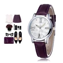 Luxury Brand Quartz Watch women Watches Ladies 2016 Leather Fashion Dress Wristwatch 9 Colour Montre Femme Relogio Feminino(China (Mainland))