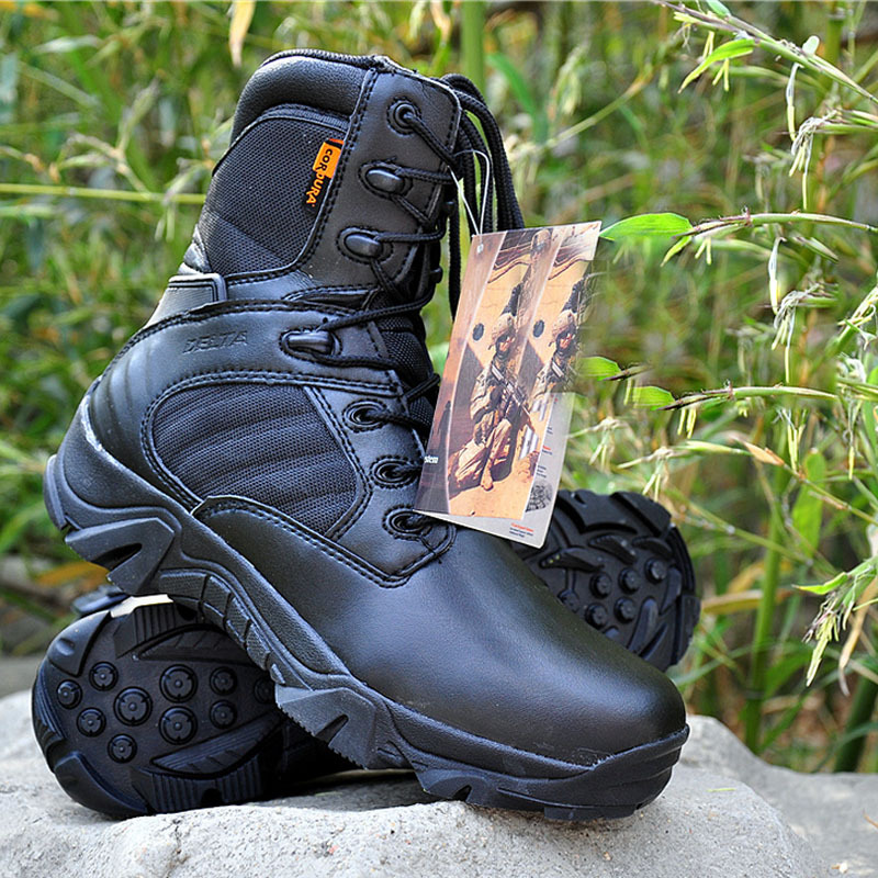 2015 Professional brand men Army boot Tactical Boots High quality sport shoes man Genuine Leather Rubber soles Slip(China (Mainland))
