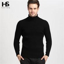 2016 hiver chaud épais 100% cachemire pull à col roulé hommes hommes marque hommes pull Slim Fit pull hommes tricots Double col(China (Mainland))