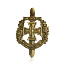 Perang Dunia II WW2 Bros Militer Jerman Eagle Pin Bendera Rusia Uni Soviet Bintang Merah Pins Lencana Logam Bros Cap Cockatiel Pria 'S Jewelry(China)