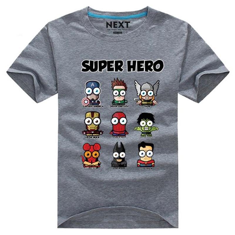 Гаджет  Superman/Captain America Cartoon funny t shirt Men O-neck Short Sleeve emoji shirt Popular Superhero T-shirts Plus Size Tee XXXL None Одежда и аксессуары