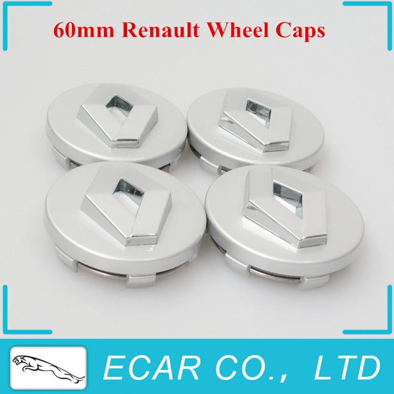 20 x 60mm Silver Wheel Center Hub Caps car Rims cap Emblem logo Cover for Renault Clio Megane Scenic Laguna TwinGo 7700418657(China (Mainland))