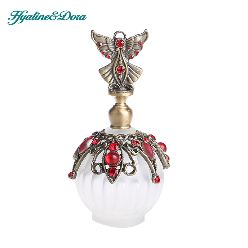 18ML Retro Antique Glass Perfume Bottle 1.4 inch Flower Vine Empty Glass Cosmetic Container Wedding Decoration Perfume Bottle(China (Mainland))