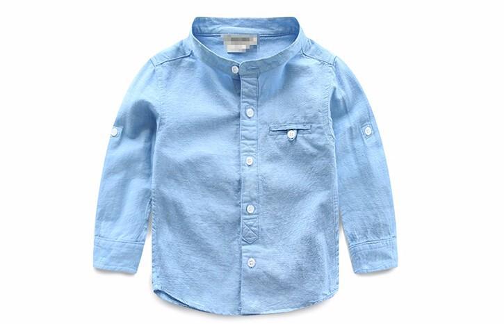 Kids boys shirts linen Boys Brand Blouse Long-sleeve Spring Autumn Shirt for Boy Girl Tops clothes clothing