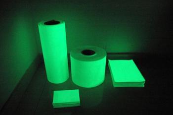 hot sell green photoluminescent film,photoluminescent tape,luminous film