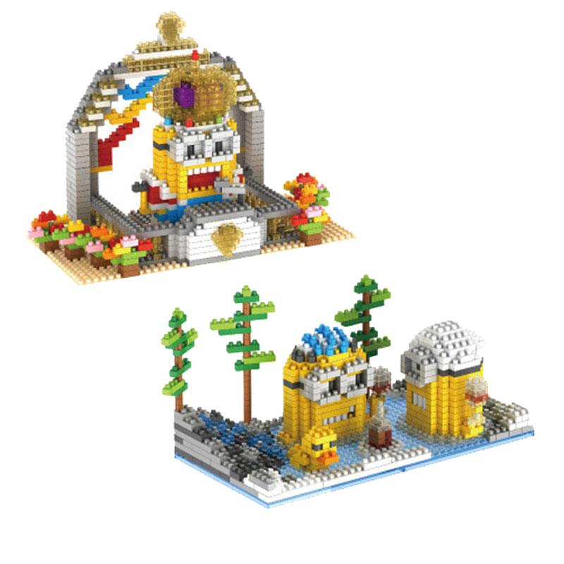 GEM Mini Building Blocks Minions Action Figure Classical DIY Assemble Model Toy Gift<br><br>Aliexpress