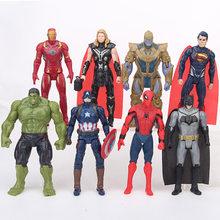 Figura de ação Vingadores Marvel Infinito Guerra Herói Homem de Ferro Capitão América Thor Figura de Ação Do Homem Aranha Menino Brinquedo Coleção(China)