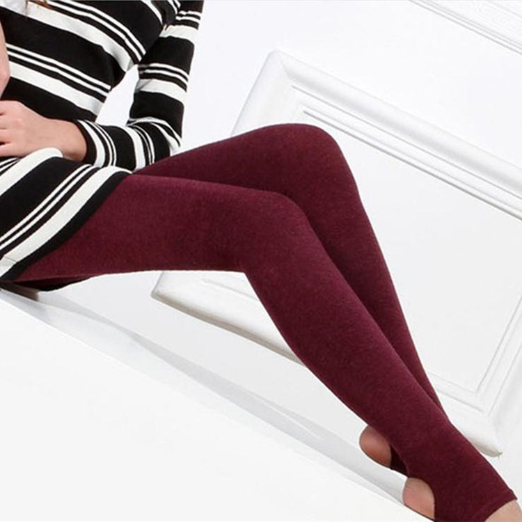 Women Solid Leggings Warm Winter Faux Velvet Top Quality Knitted Thick Slim Camel Legging Mid Waist Cotton Ankle-Length K099(China (Mainland))