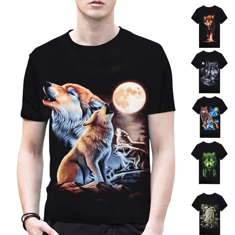 2017 Brand Clothing Wolf Anime Casual 3D Print Stars T Shirt Men Shirts Cotton Dark Souls Punisher Sale Items O-neck T-shirts A2(China (Mainland))