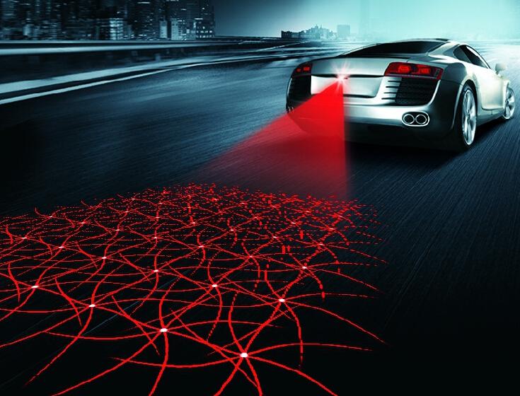 Лазерная противотуманная фара автомобиля для предотвращения столкновений