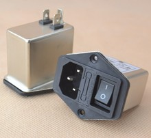 10A power EMI filter CANNY WELL EMI with rocker switch & socket(China (Mainland))