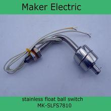 110 V de bajo costo MK-SLFS7810 nuevo profesional nivel Portable líquido interruptor de flotador de nivel de agua sensor de acero inoxidable venta