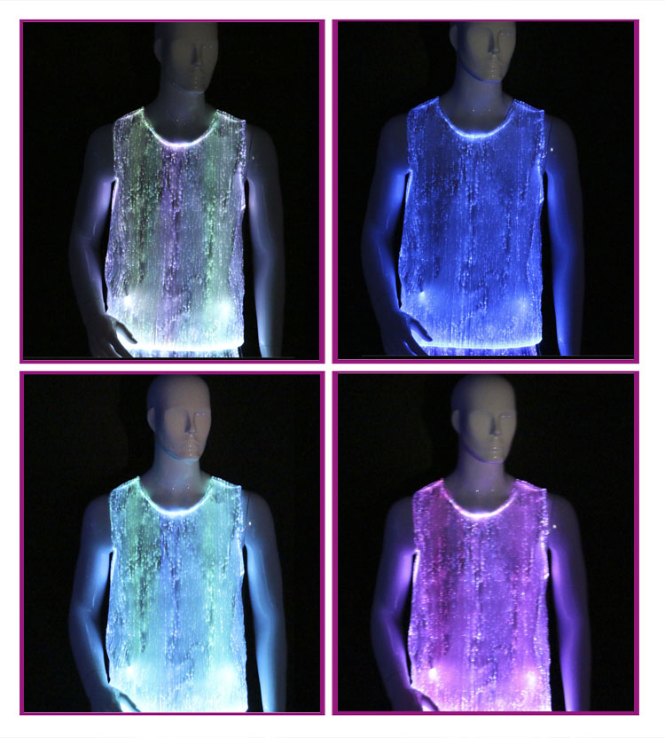 lighting vest, mens tank tops, light up vest