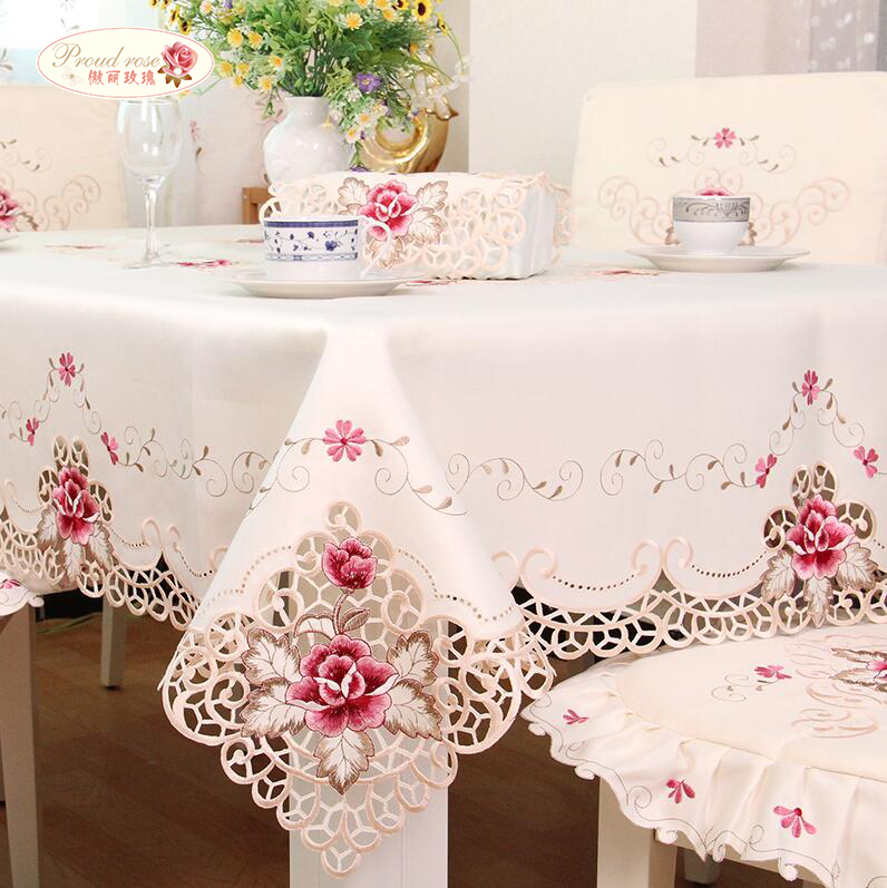 1 Piece European Rural Embroidered Tablecloths/ High-grade Table Runner Table Cloth/ The Modern Home Decoration Free Shipping(China (Mainland))