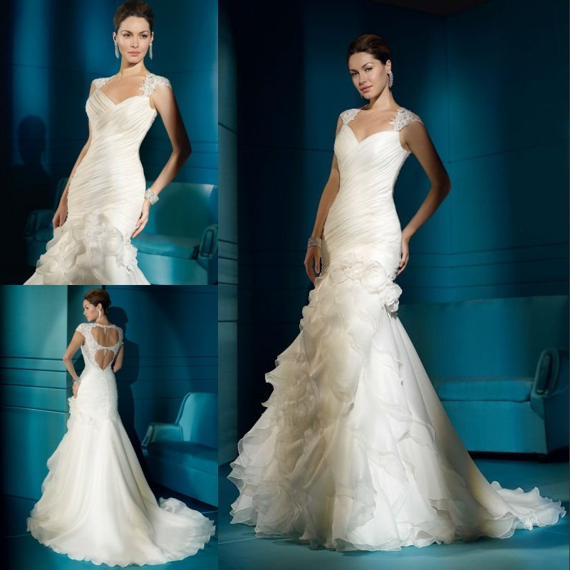 Free shipping cost hot sale elegant low back mermaid for Cost of a wedding dress