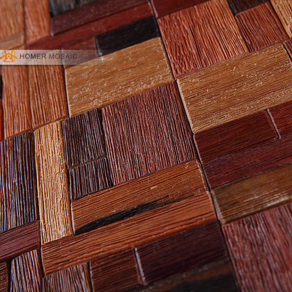 Wood Tile Kitchen Backsplash: Natural Boat Wood Mosaic Tile Backsplash, Bathroom Tile