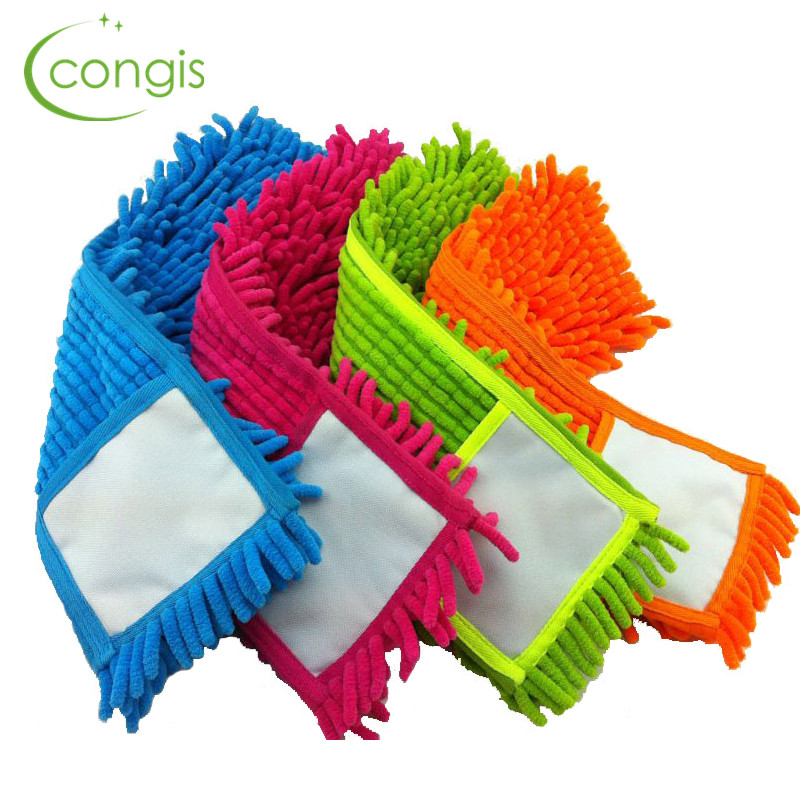 Congis 4PCS/set 4 colors Chenille Mop Head Replace The Cloth , a Flat Mop Mop Head Replace Cloth Floor Clean Mop Accessories(China (Mainland))