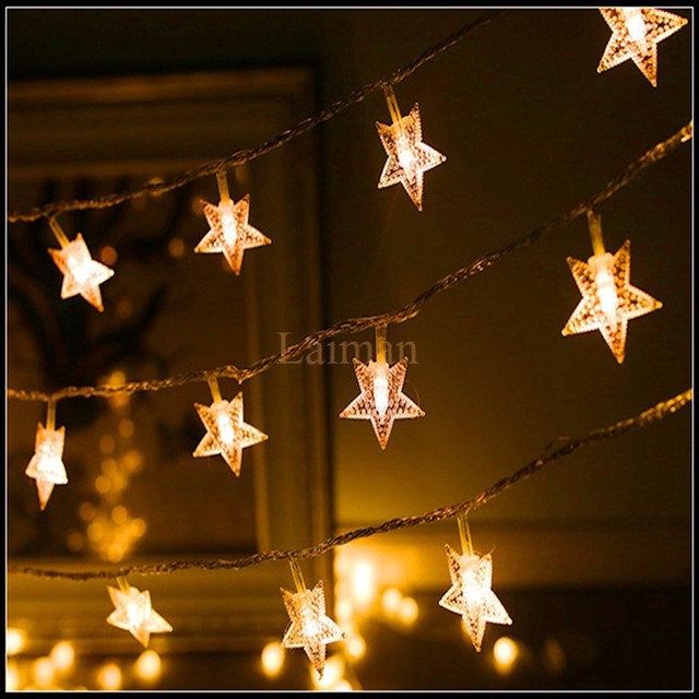 Cheap m led garland outdoor star string lights five