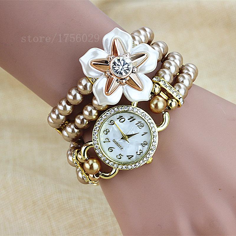 Moscow Amorous Feelings Fashion Luxury Pearl Bracelet Watches Women Casual Quartz Watch Women Wristwatches Relogio Feminino