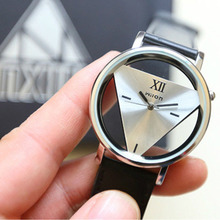 Hot 1 Pc Leather Band Stainless Steel Sport Analog Quartz Women Mens Wrist Watch