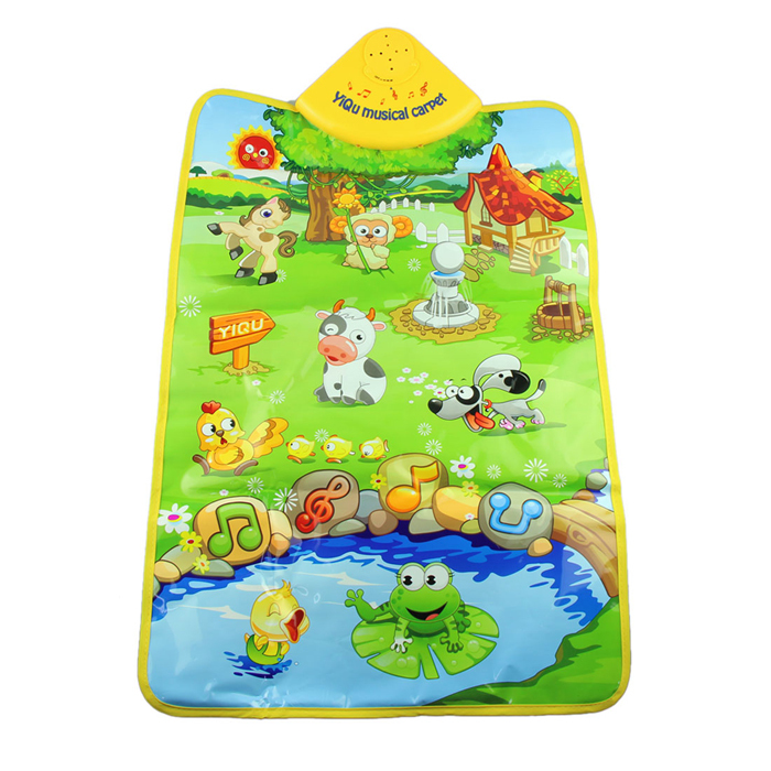 Delicate Music Sound Farm Animal Kids Baby Play Playing Mat Carpet Playmat Gym Toy Hot Selling(China (Mainland))