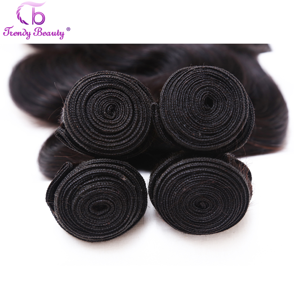 Trendy Beauty Brazilian Body Wave Hair 100% human hair 1 pcs only 8-26 inches natural black color remy hair