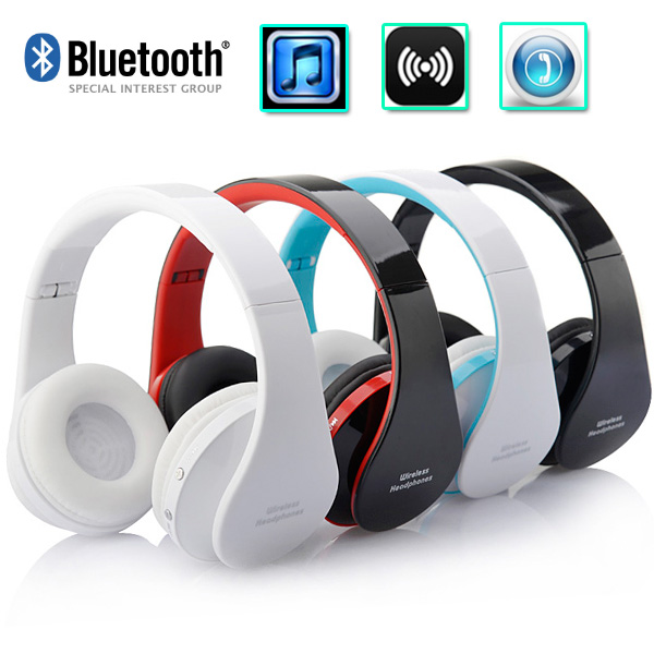 Wireless Bluetooth Headphones Earphone Earbuds Stereo Foldable Handsfree Headset with Mic Microphone for iPhone Galaxy HTC(China (Mainland))