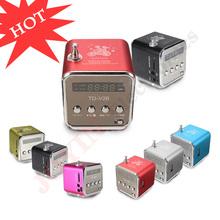 Hot Sale Fashion Aluminum Portable Mini FM Radio With Speaker LED Digital Micro USB/SD/TF Card, Support PC/MP3/4/Mobile/Tablets(China (Mainland))