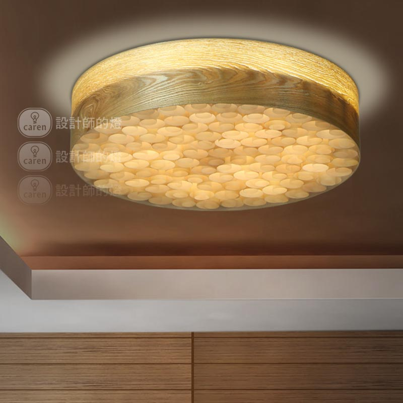 Designer lamps contracted rural living room wooden bedroom lamp restaurant new Chinese Cherry Bark volume ceiling lamps(China (Mainland))