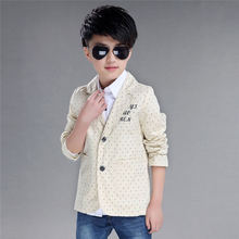 Coat Clothing For Boys Children Kids Jacket Outerwear Solid Color Dots Long Sleeves Coats Lapel Beige Light Blue Navy 0246(China (Mainland))