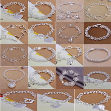 A48 // Big promotion popular Factory Price hot sale Bracelets Chain, wholesale fashion 925 jewelry silver plated Bangle Bracelet(China (Mainland))