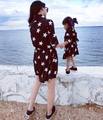 Stars Printed Long Sleeves Mother Daughter Dresses Matching Family Clothes Autumn Fashion 2017 Family Look Girl