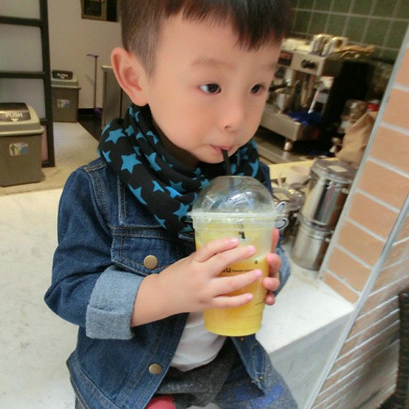 WJ One Piece Fashion Kids Girl Boy Baby Stars Print Scarf Children Toddler Winter Warm Scarves Neckerchief