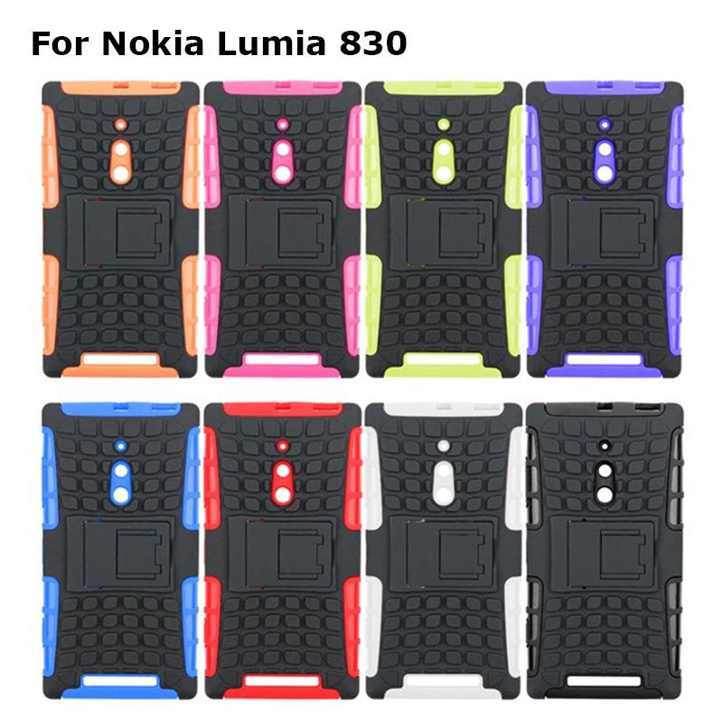 Newest for Nokia Lumia 830 Case Armor Hybrid Stand TPU+PC Cover for Nokia Lumia 830 back Case(China (Mainland))