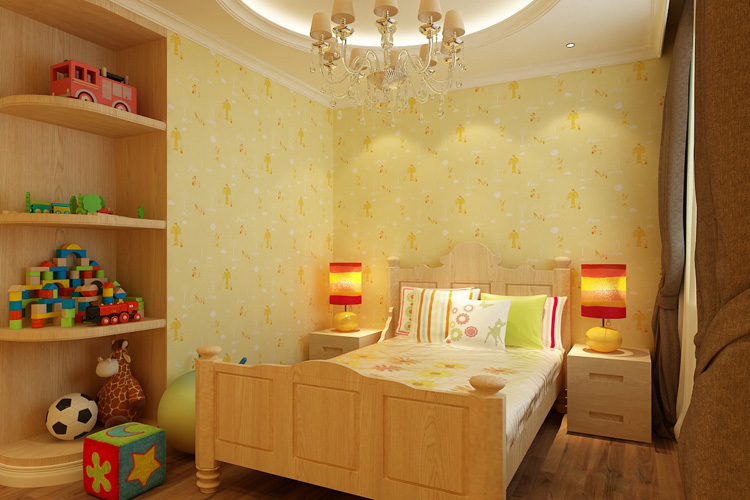 Little Piggy Cartoon design children room bedroom wallpaper eco friendly decoration(China (Mainland))