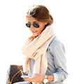 Brand Fashion Solid Scarf Cashmere Pashmina Blanket Shawl Unisex Thicken Handkerchief Soft Warm Winter Hijab Bufanda