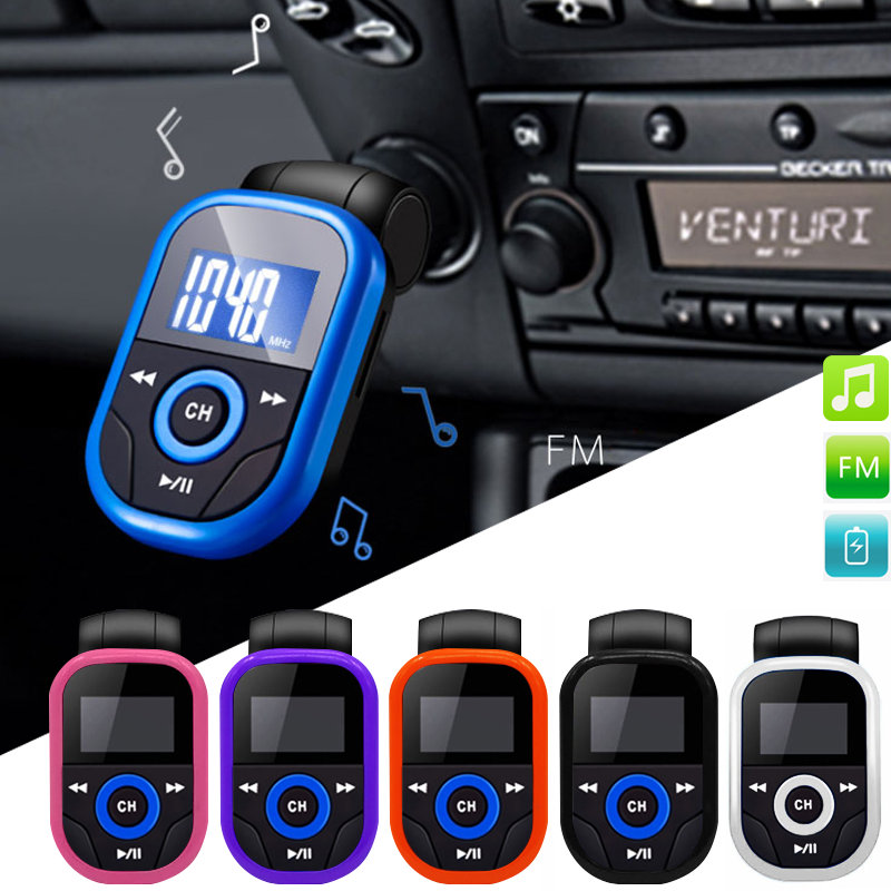 "Brand New 1.2"" Car audio Wireless FM Transmitter MP3 Player Car Kit Charger USB Aux Support SD Card TF Card With Remote control(China (Mainland))"