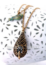 Fashion Jewelry Bird Nest Double Pendant Necklace