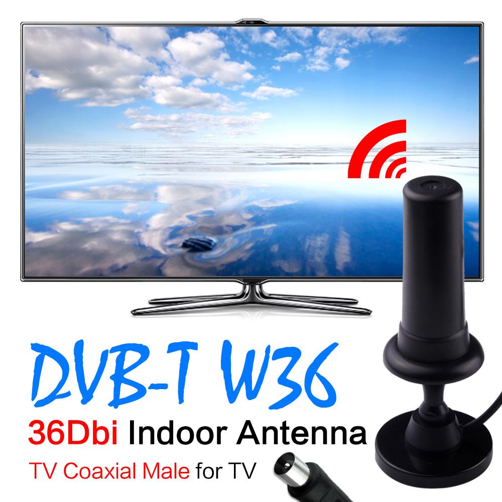 36dBi Digital DVB-T Black HDTV Freeview Aerial For HDTV DVB T Booster Antenna(China (Mainland))